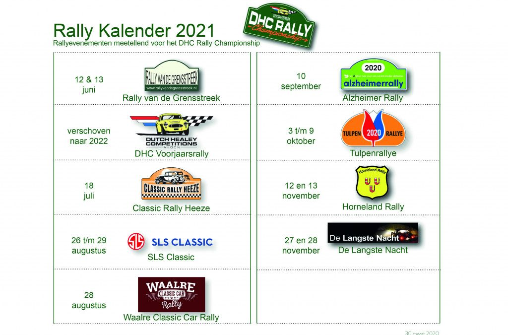 DHC Rallykalender 2021